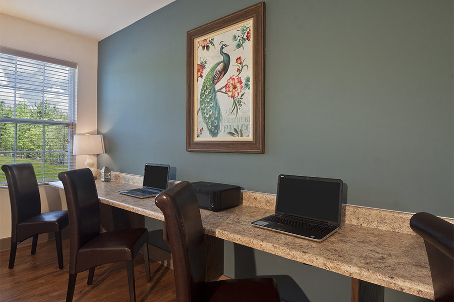 Business Center at the Lounge at Loftin at Montcross - Developed by Laurel Street