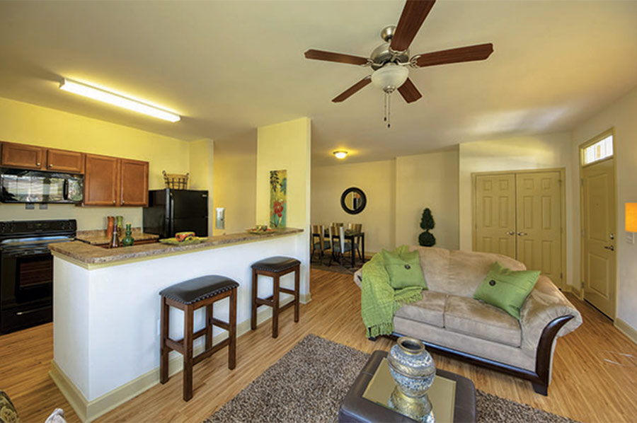 Living Space at Highland Grove - Developed by Laurel Street
