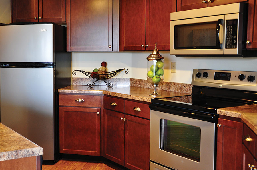 Apartment Kitchens at Park Terrace - Laurel Street