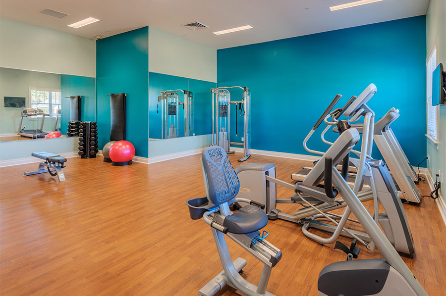 Community Fitness Room at Renaissance - Developed by Laurel Street